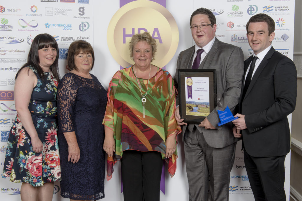 Townfield Care being presented with the Hyndburn Employer of the Year Award