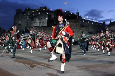 Edinburgh Tattoo comes to Townfield Care in Great Harwood